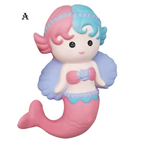2019HoHo Cute Angel Mermaid Squishy Toys Lovely Stress Anxiety Relief Toys Adorable Squeeze -