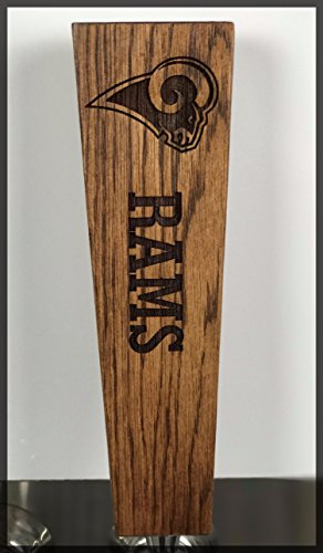 Wood St Louis Rams Football (Rams Solid Oak Engraved Tap Handle)