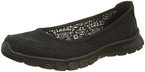 Nero 3 Flex Ez Chiusa Beautify 0 Ballerine Black Skechers Donna Punta qz6xHw