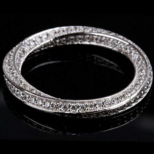 Tomikko Mobius Ring Eternity Bent Band Cz 925 Silver Men Women Wedding Engagement Sz 5-9   Model RNG - 24121   6 ()