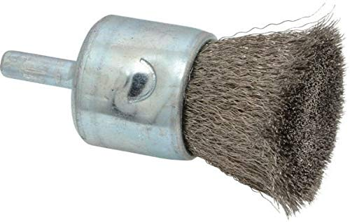 22,000 Max RPM Anderson 1 Diam Crimped End Brush 1//4 Shank Diam