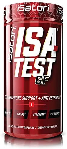 iSatori ISA-Test GF High Performance Testosterone Booster – Gain Strength And Increase Muscle Mass – Hardcore Training For Exercise And Sports – Gluten-Free Anti-Estrogen Complex – 120 Capsules