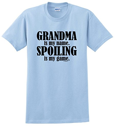 Gift for Grandma Grandma Is My Name Spoiling Is My Game T-Shirt Large Light -