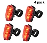 Cheap GIANCOMICS 4pcs Waterproof LED Bike Tail Lignt Bike Cycling Flashing Rear Light with 5 LED Safety Warning Lamp