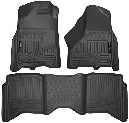 Husky Liners 99001 Black Combo Set Weatherbeater Front & 2nd Seat Floor Liners
