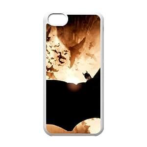 iPhone 5c Cell Phone Case White Batman E5N1M