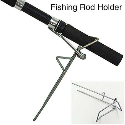 Purelemon Ground Support Protable Adjustable Medium-sized Stand Fishing Rod Rest Holders