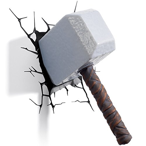 3DLightFX Marvel Avengers Thor Hammer 3D Deco Light]()