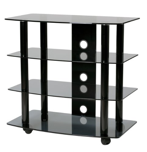 TransDeco High Boy TV Stand with Caster for Up to 35-Inch LED LCD TV