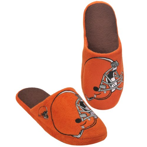 Cleveland Browns Slippers - Cleveland Browns 2011 Big Logo Men Slipper Tpr Sole  Extra Large