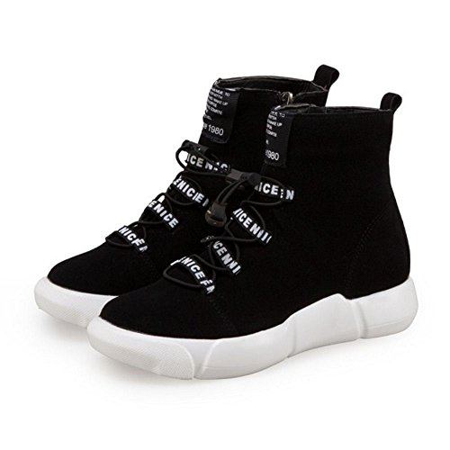 KemeKiss Black Bootie Fashion Women Zipper qUqrOC