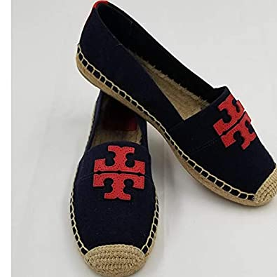 2cebe309572 Image Unavailable. Image not available for. Color  Tory Burch 40034 Weston  Flat Espadrille ...