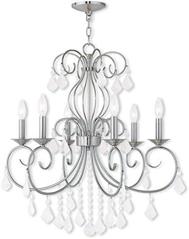 Livex Lighting 50766-91 Brushed Nickel Chandelier