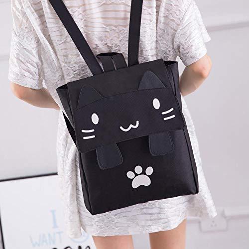Black della Borsa dello scuola zaino di casuale bello ragazza adolescente zaino a dello tracolla Schoolbags di nylon della Tx6qOrT