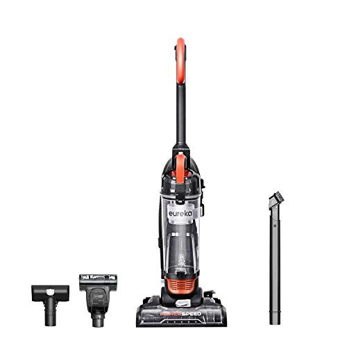 Eureka Power Speed NEU188A PowerSpeed Turbo Spotlight Lightweight Upright Vacuum Cleaner for Carpet and Hard Floor, Orange