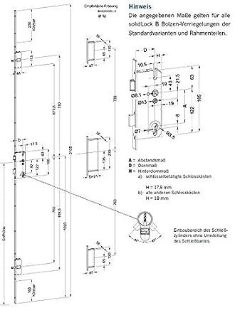 Winkhaus Mehrfachverriegelung STV-F1607 92//8 D45 LS//RS B2 MC 16 mm Flachstulp mit 2 Bolzenriegeln