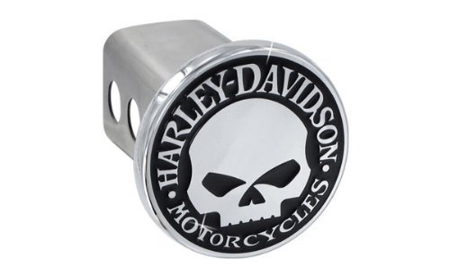 Harley-Davidson Trailer Tow Hitch Cover Plug Featuring The Willie G Skull by Harley-Davidson
