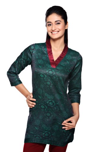 Women's Indian MixNMatch Kurta Teal X-Small by In-Sattva