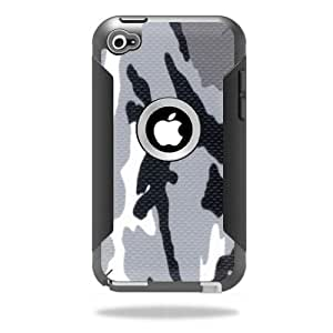Mightyskins Protective Vinyl Skin Decal Cover for OtterBox Defender iPod Touch 4G Case wrap sticker skins Gray Camo