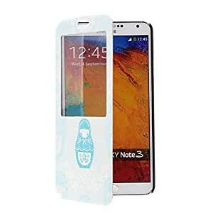 WEV Nesting Doll Pattern Full Body Case with Window for Samsung Note3