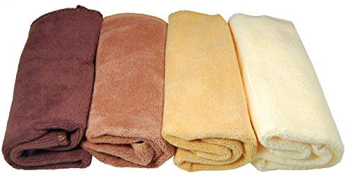 Plush Microfiber Towels/WASHCLOTHS, Ultra Soft Thick  4-pack