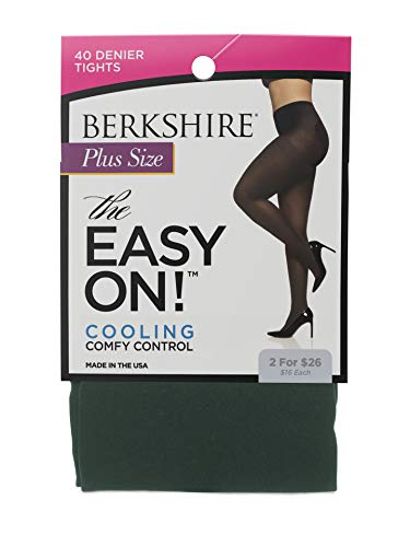 Berkshire Women's Plus Size the Easy on Maximum Coverage Tight, Tartan Green, -
