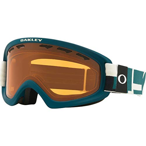 Oakley O Frame 2.0 PRO XS Adult Snowmobile Goggles - Iconography Balsam/Persimmon/Dark Grey/One Size (Frame Ski Goggles Oakley O)