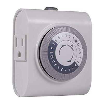 GE 24-Hour Heavy Duty Indoor Plug-in Mechanical Timer