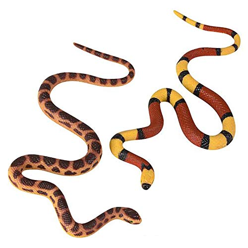 Kicko 22 Inch Mega Stretch Snake - Elastic Reptile, Soft and Rubbery, Python Replica, Practical Joke, Party Favor, Special Occasion Supply, Collectibles Carnival Game Prize, Traditional Animal Repellent