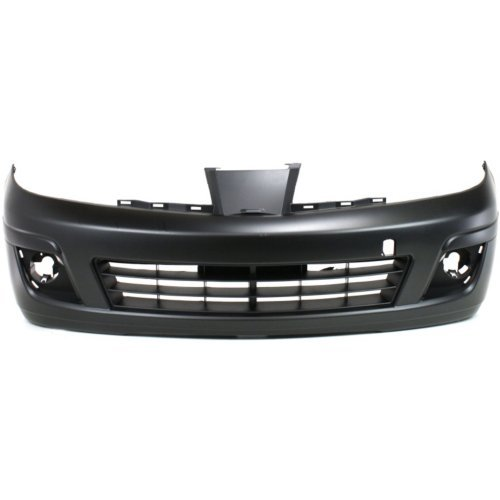 Bumper Hole Cover - Front Bumper Cover for NISSAN VERSA 2007-2012 Primed with Fog Light Holes Hatchback/Sedan
