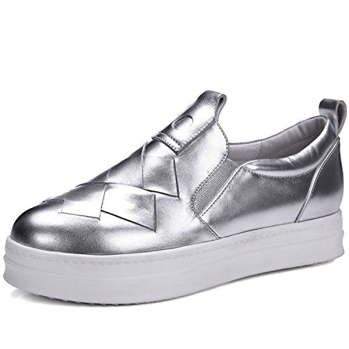 outlet store c94aa 637ad Nike Flex 2016 Rn Size 6 830369 014,. VIMISAOI Women s Casual Genuine  Leather Loafers Hidden Hidden Hidden Heel Wedges Platform Fashion Sneakers  B079QM1DY8 ...