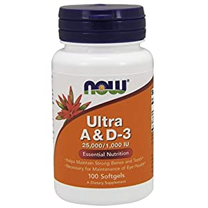 Now Ultra A & D3 25,000/1,000 IU,100 Softgels
