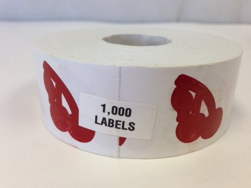 Perforated Cherries Tanning Stickers, Roll of 1000 ()