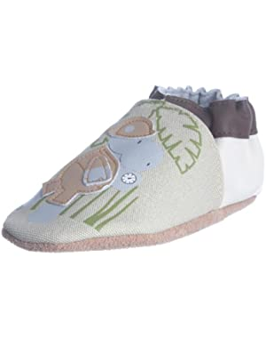 Infant Toddler Boys Slip On Shoes Organic Safari Hippo Cream