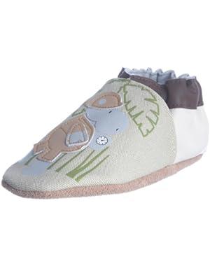 Infant Toddler Boys Slip On Shoes Organic Safari Hippo Cream