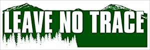Leave no trace bumper sticker hiking hike for Leave no trace coloring page