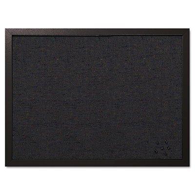 Designer Fabric Bulletin Board (Designer Fabric Bulletin Board, 24X18, Black Fabric/Black Frame)