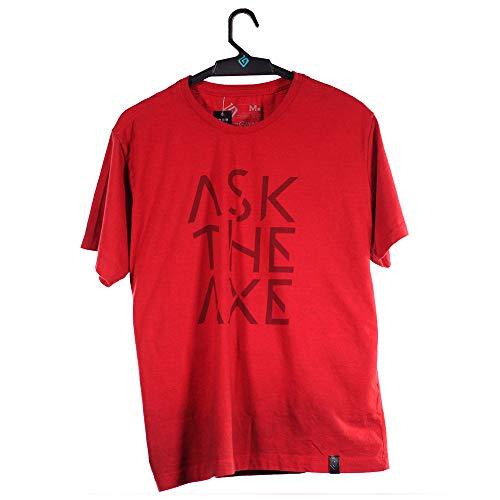 Camiseta Ask The Axe, God of War, Adulto Unissex, Vermelho, P