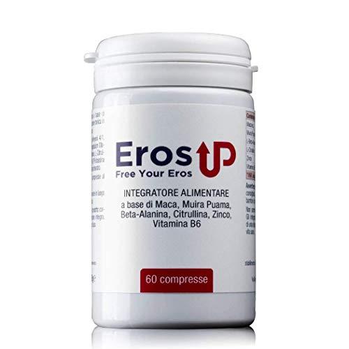 ErosUp - 60 Pillole 2400mg Per Dose Giornaliera - Ultima Formulazione – Integratore Uomo 100% Naturale Senza Controindicazioni - Prodotto in Italia con Maca Peruviana