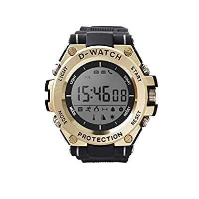 Smart Watches Metal Mens Sports Bluetooth Watch Pedometer Wearable 30 Meter Diving Waterproof Remote Camera Running Equipment for Android and IOS Black from Bestera