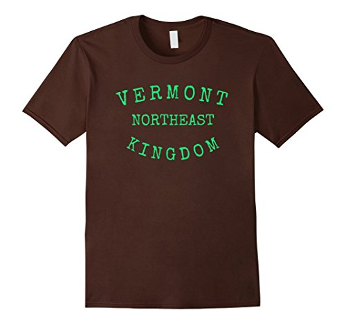 Men's VERMONT SHIRT Northeast Kingdom VT Green Mountain State Medium Brown