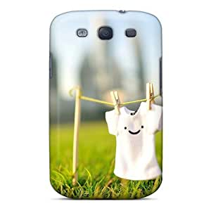 Hot Btlwt1827OhqOx Smiley T Shirt Tpu Case Cover Compatible With Galaxy S3