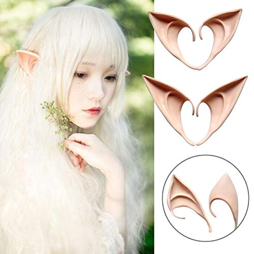 1Pair Halloween Costume Hobbit Elf Ears Cosplay Party Props Creative Gift (10cm) -
