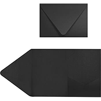 amazon com 5x7 a7 pocket invitations midnight black envelopes