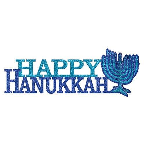 amscan Happy Hanukkah 3D Centerpiece Party Supplies, Multicolor