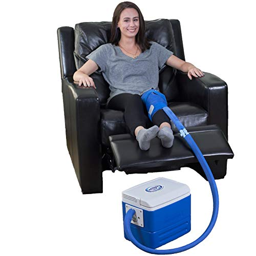 Polar Products Inc Active Ice 3.0 Knee & Joint Therapy System w/Digital Timer Includes Universal Bladder, 9 Quart Reservoir, 5 Feet of Insulated Tubing & Knee/Joint Compression Wrap (Therapy Water)