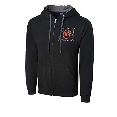 WWE Sami Zayn Never Be The Same Full-Zip Hoodie Sweatshirt Black XL by WWE Authentic Wear