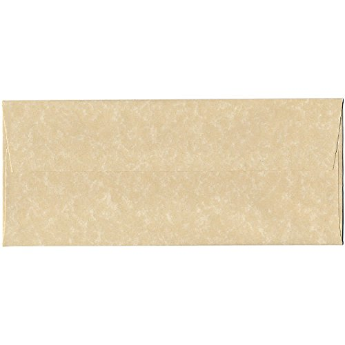 """JAM Paper #10 Business Envelope - 4 1/8"""" x 9 1/2"""" - Parchment Brown Recycled - 25/pack"""