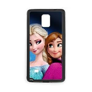 Elsa And Anna Frozen Cartoon0 Samsung Galaxy Note 4 Cell Phone Case Black TPU Phone Case SV_231800