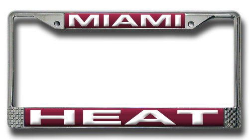NBA Miami Heat Laser Cut Chrome Plate Frame ()